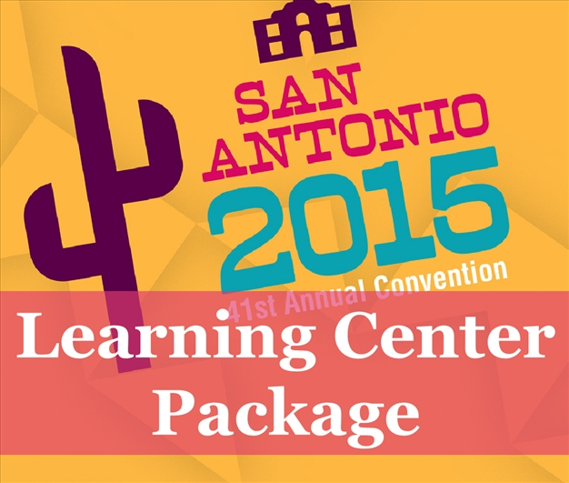 a square graphic representing 2015 Annual Convention Video Package. Presentations plus 14 CEs.