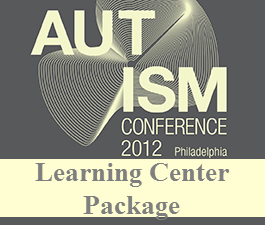 a square graphic representing 2012 Autism Conference Video Package. Presentations plus 3 CEs