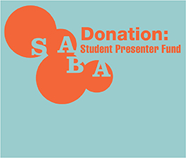 a square graphic representing Donation to the SABA Student Presenter Fund ($160)